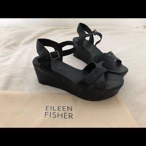 Eileen Fischer platform sandals